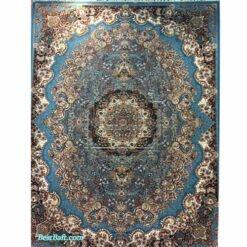 فرش مشهد ۷۰۰ شانه کد ۷۰۲۱۰۰ آبی فیروزه ای