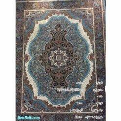 فرش مشهد ۷۰۰ شانه کد ۸۷۲۱۲۰ آبی فیروزه ای