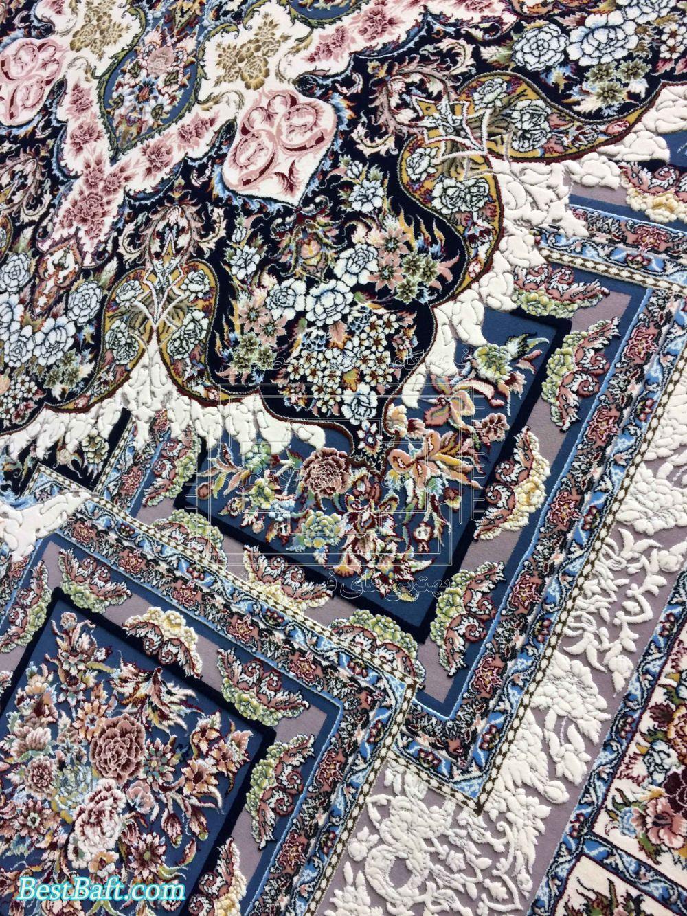 فرش زمرد مشهد کد 22000 کرمی