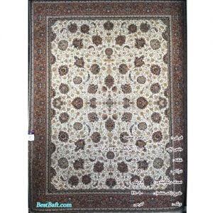 فرش زمرد مشهد ۷۰۰ شانه کد ۲۵۰۱۰ کرمی
