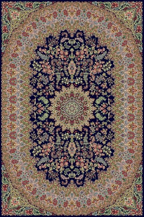 فرش نگین مشهد طرح 10014 500 شانه کرم رنگ