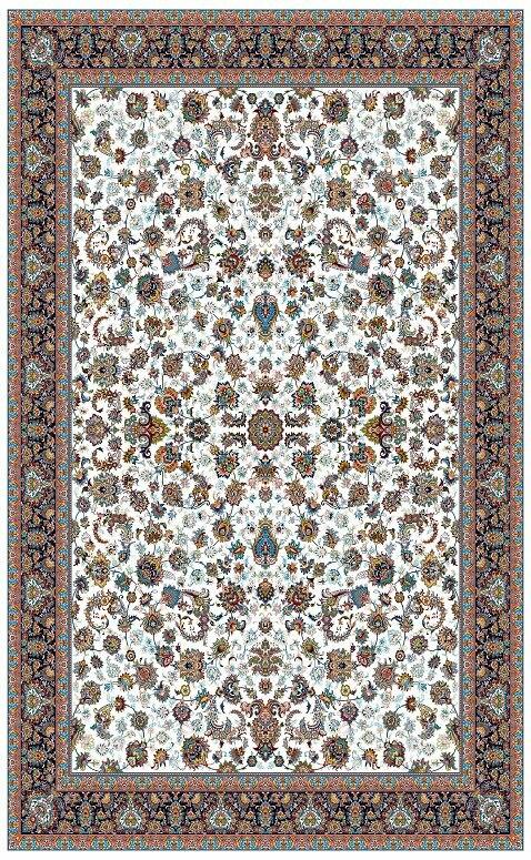 مشخصات،قیمت و خرید فرش نگین مشهد 700 شانه کد 2591 کرمی