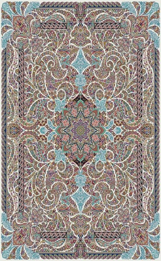 مشخصات،قیمت و خرید فرش نگین مشهد 700 شانه کد 70005 کرمی