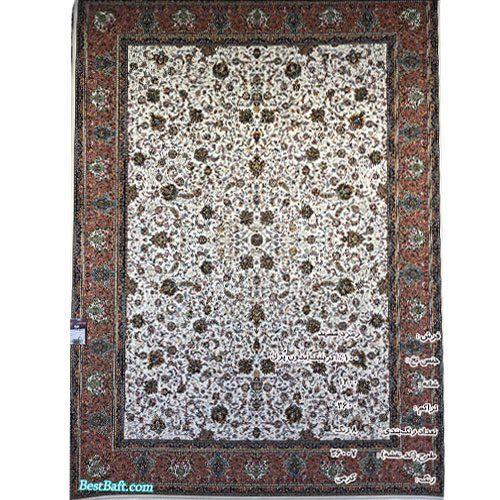 فرش زمرد مشهد ۱۲۰۰ شانه کد ۳۶۰۰۷ کرمی