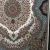 فرش زمرد مشهد کد 25014 کرمی