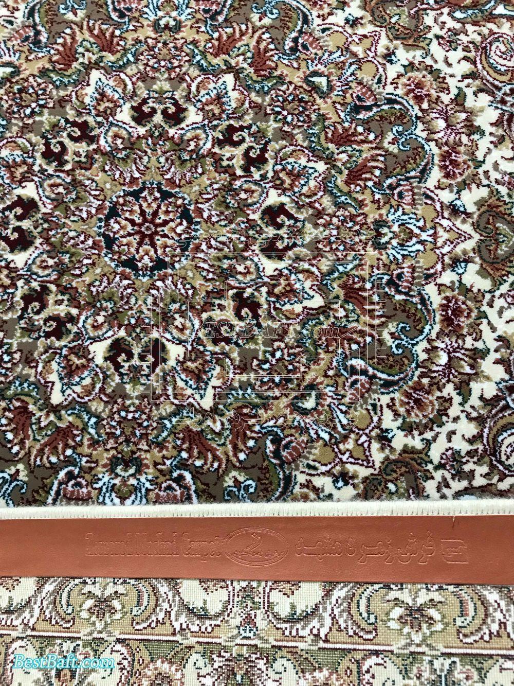 فرش زمرد مشهد کد 14003 کرمی