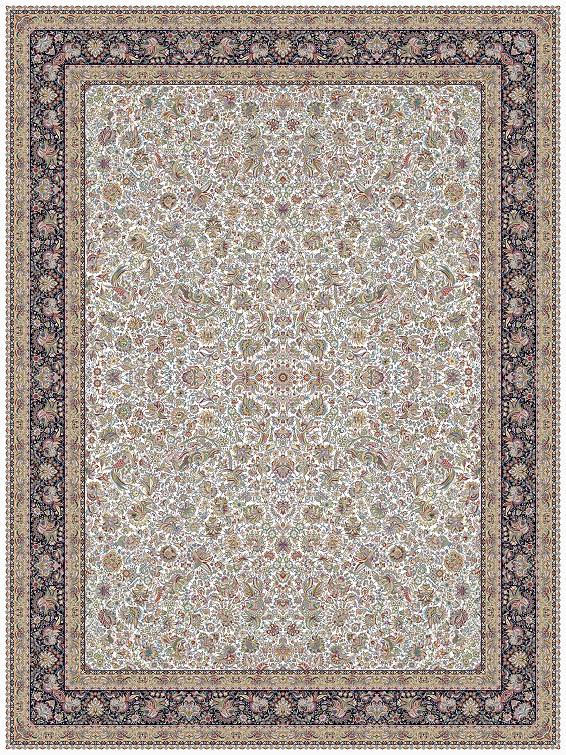 مشخصات، قیمت و خرید فرش نگین مشهد کد 1203 کرم 1200 شانه