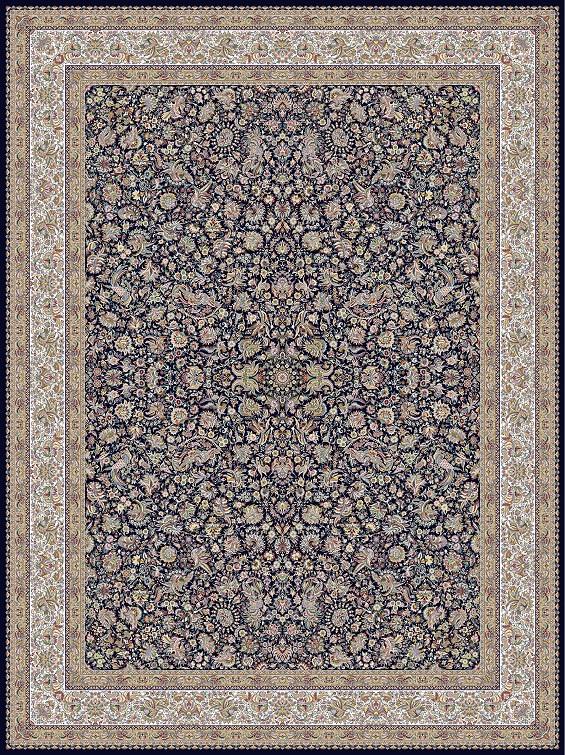 مشخصات، قیمت و خرید فرش نگین مشهد کد 1203 سرمه ای 1200 شانه