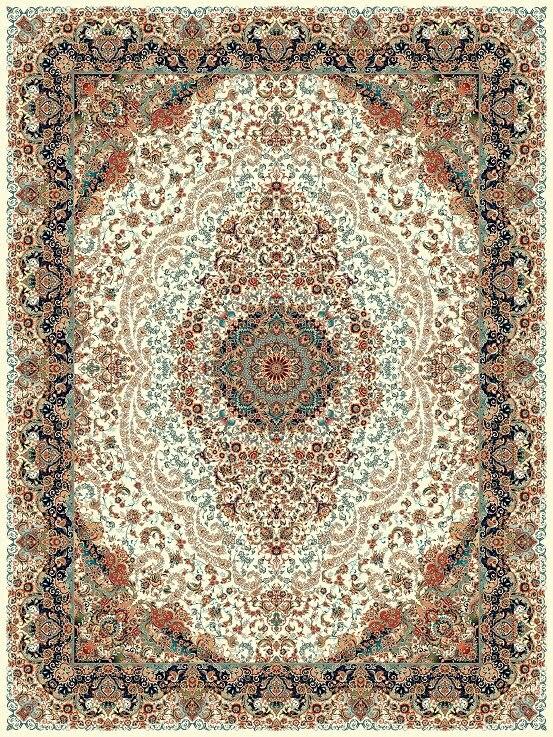 مشخصات، قیمت و خرید فرش نگین مشهد کد 1206 کرم 1200 شانه