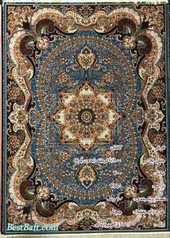 مشخصات، قیمت و خرید فرش کاشان چیچک آبی فیروزه ای 700 شانه