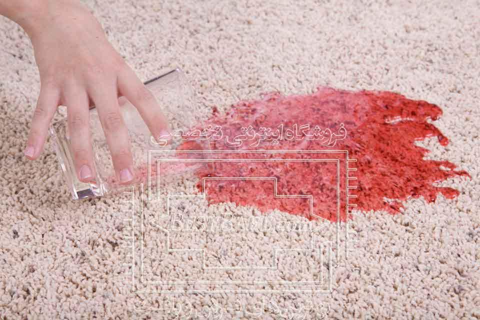 پاک کردن لکه آبمیوه از روی فرش ماشینی