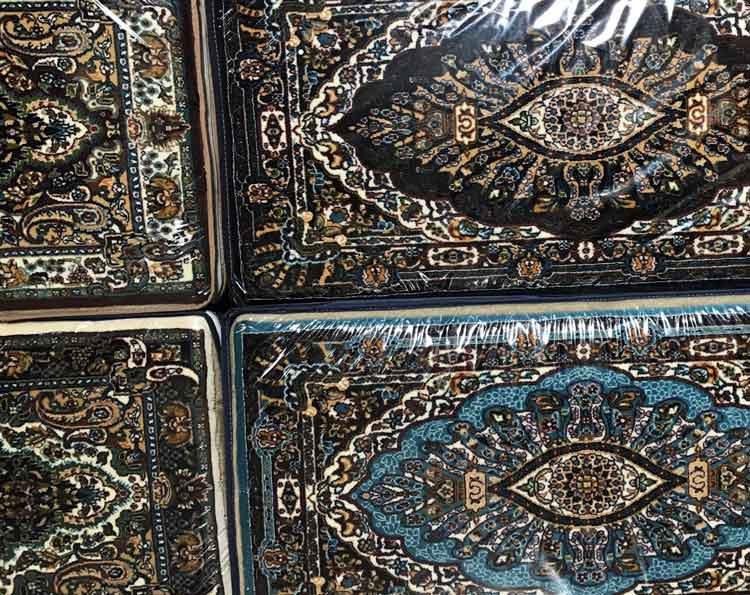 پشتی سنتی کد721 فرش نگین مشهد آبی فیروزه ای خرید پشتی سنتی فروشگاه اینترنتی خرید فرش
