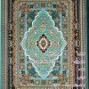 مشخصات، قیمت و خرید فرش نگین مشهد 1000 شانه ابی فیروزه ای طرح 1008 برجسته