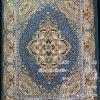 مشخصات، قیمت و خرید فرش کاشان ویکتوریا آبی فیروزه ای گل برجسته 1000 شانه