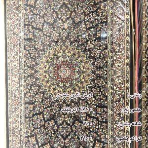 پشتی سنتی سرمه ای فرش نگین مشهد کد 706 700 شانه (1)