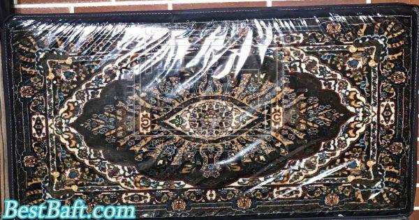 پشتی سنتی فرش نگین مشهد کد721 سرمه ای 700 شانه
