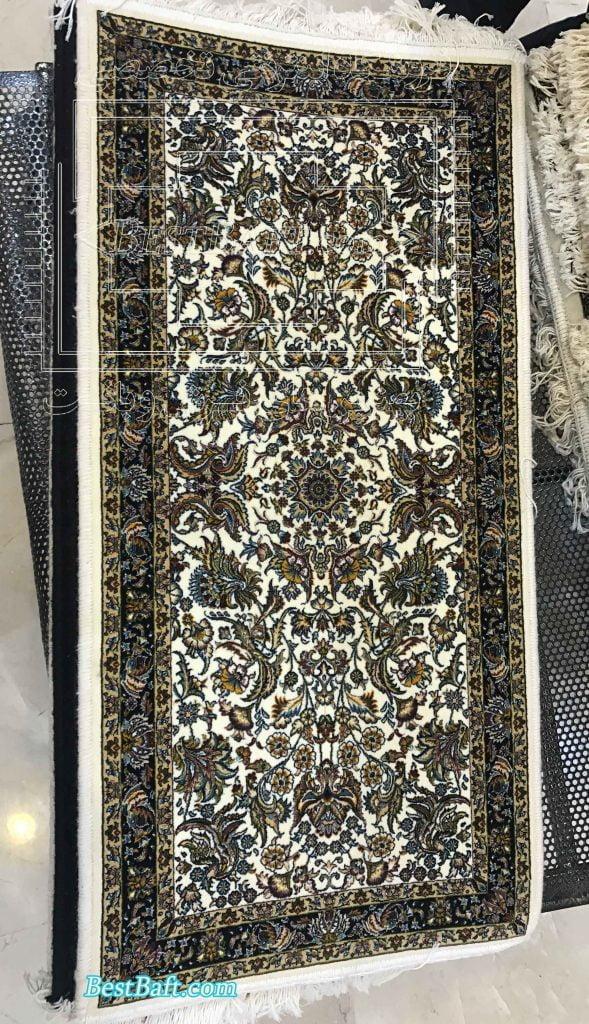 پشتی سنتی کد1203 فرش نگین مشهد کرم 1200 شانه