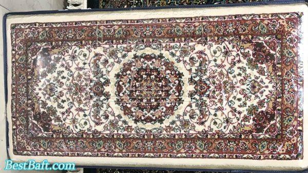 پشتی سنتی کد14000 فرش زمرد مشهد کرم 700 شانه