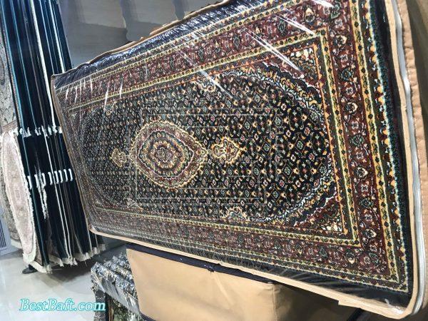 پشتی سنتی کد2520 فرش نگین مشهد سرمه ای 700 شانه