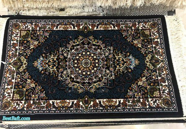 پشتی سنتی کد2593 فرش نگین مشهد سرمه ای 700 شانه