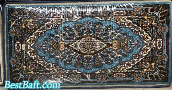 پشتی سنتی کد721 فرش نگین مشهد آبی فیروزه ای 700 شانه (1)