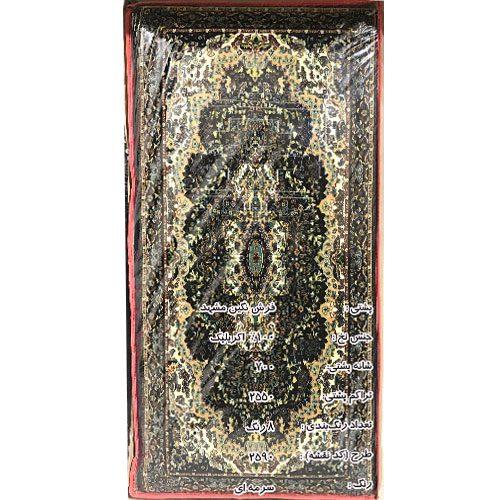 پشتی سنتی طرح ۲۵۹۰ فرش نگین مشهد سرمه ای