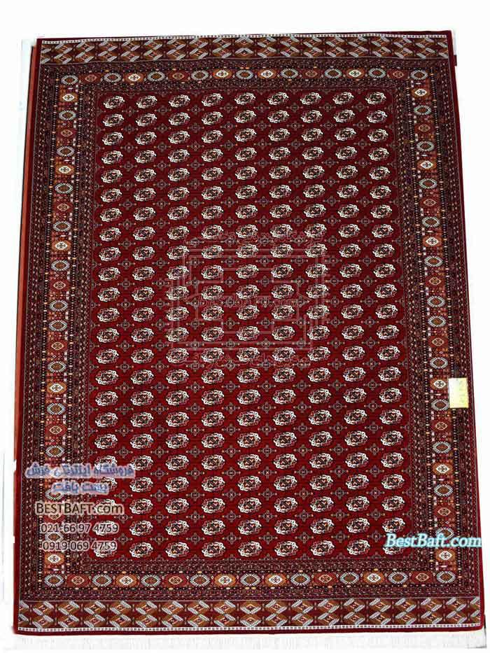 نمونه ای فرش ترکمن و پشتی سنتی ترکمن