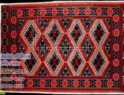 فرش ترکمن و پشتی سنتی ترکمن دشت گل ها