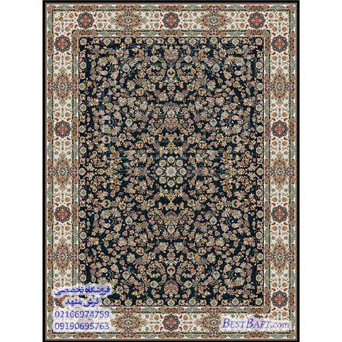 فرش مشهد ۱۲۰۰ شانه سرمه ای طرح ۸۰۲۰۱۲