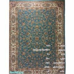 فرش مشهد ۷۰۰ شانه کد ۸۷۱۴۹ آبی فیروزه ای
