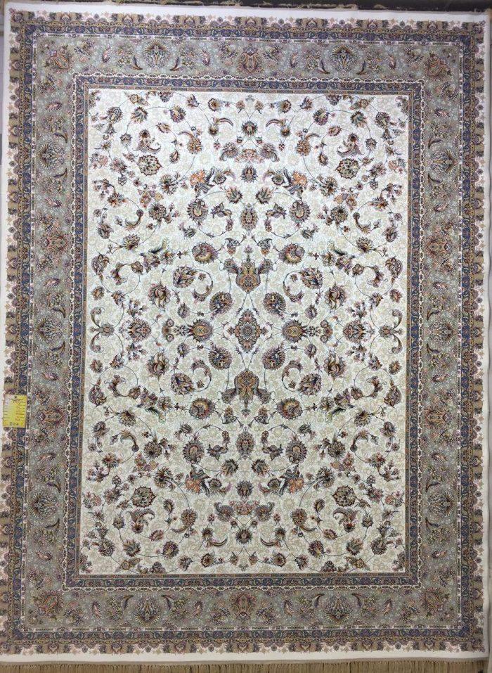 فرش کاشان طرح افشان کرمی ۱۲۰۰ شانه تراکم ۳۶۰۰