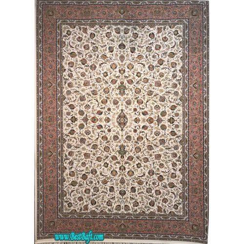 فرش زمرد مشهد 1500 شانه کد 45000 حاشیه مسی