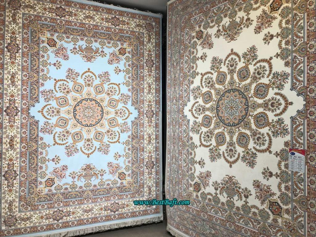 فرش نگین مشهد ۷۰۰ شانه کد ۷۰۰۰۶ گردویی گل برجسته