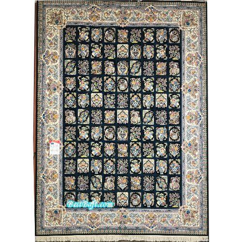 فرش نگین مشهد ۱۲۰۰ شانه کد 1212 سرمه ای