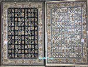 فرش نگین مشهد ۱۲۰۰ شانه کد ۱۲۱۲ سرمه ای