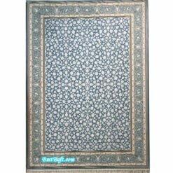 فرش زمرد مشهد ۷۰۰ شانه کد ۲۶۰۰3 آبی فیروزه ای گل برجسته
