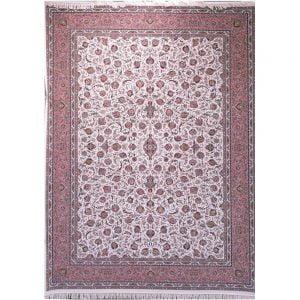 فرش زمرد مشهد ۱۵۰۰ شانه کد ۴۵۰۰۰ کرمی