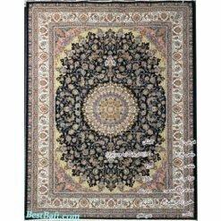 فرش کاشان اصفهان سرمه ای 700 شانه