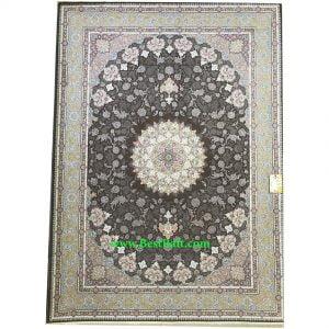 فرش کاشان ۱۵۰۰ شانه اصفهان تراکم ۴۵۰۰ شکلاتی