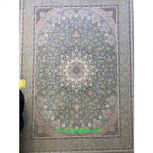 فرش کاشان ۱۵۰۰ شانه اصفهان تراکم ۴۵۰۰ نقره ای