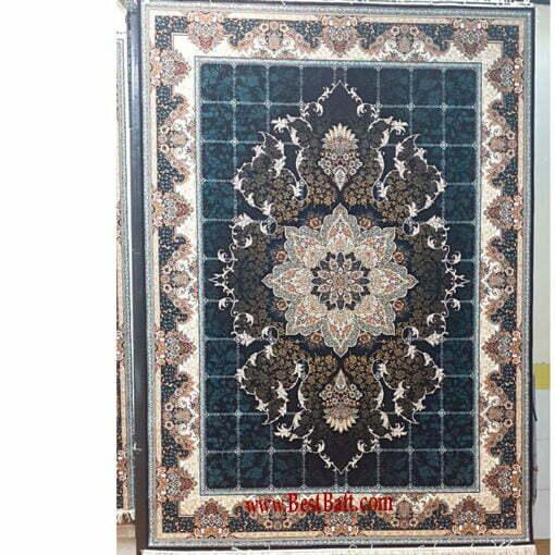 فرش مشهد ۷۰۰ شانه کد ۸۷۲۳۶۴ سرمه ای