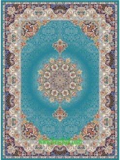 فرش مشهد ۷۰۰ شانه کد ۸۷۲۳۶۵ آبی