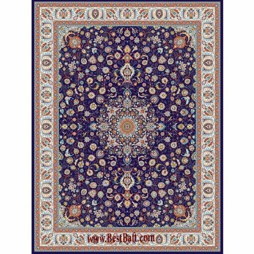 فرش مشهد ۷۰۰ شانه کد ۷۲۲۱۳۳ سرمه ای