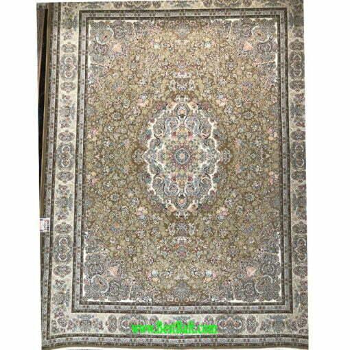 فرش زمرد 1500 شانه تراکم 4500 کرم