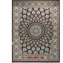 فرش مشهد ۱۵۰۰ شانه کد ۸۱۵۰۰۲ سرمه ای