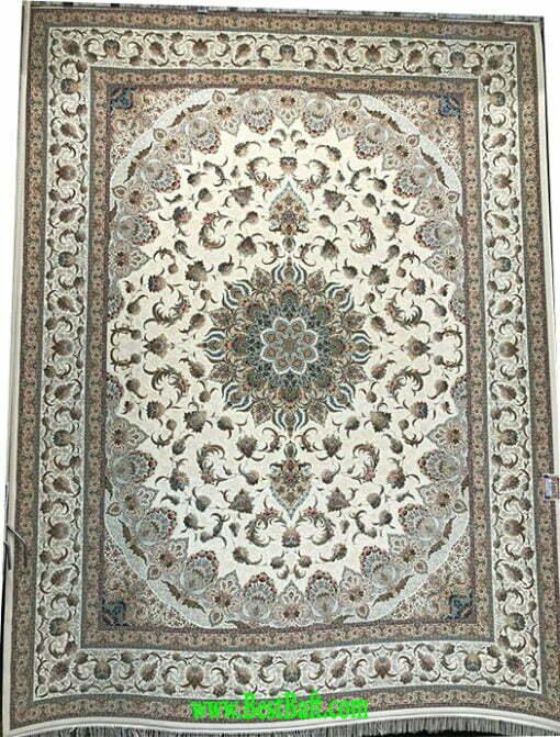 فرش مشهد ۱۵۰۰ شانه کد ۸۱۵۰۰۵ کرمی