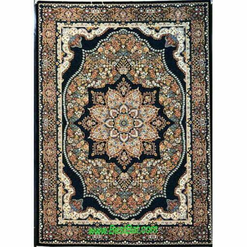 فرش مشهد ۷۰۰ شانه کد ۷۲۲۰۹۸ سرمه ای