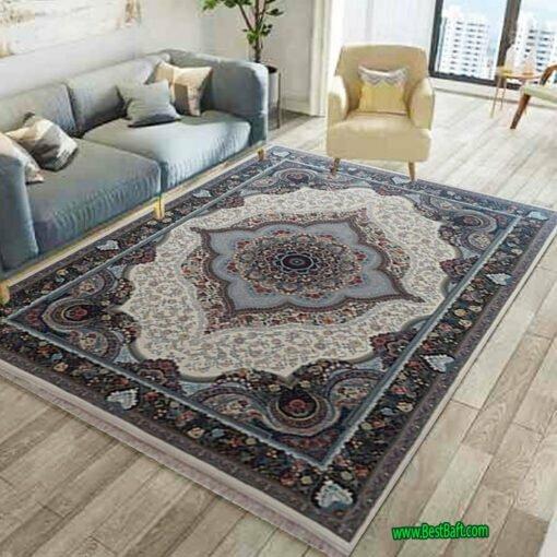 فرش مشهد ۷۰۰ شانه کد ۷۲۲۲۱۵ کرمی
