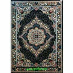 فرش مشهد ۷۰۰ شانه کد ۷۲۲۲۱۵ سرمه ای