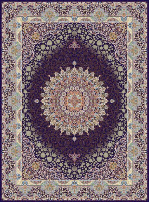 فرش مشهد ۷۰۰ شانه کد ۸۷۲۳۷۵ سرمه ای